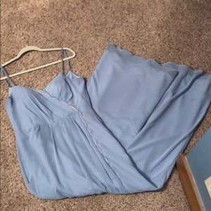 Dusty blue bridesmaid/prom dress